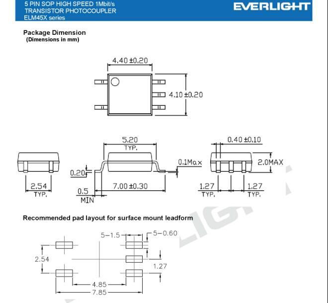 功率晶体管隔离的驱动器. 低速光敏晶体管光耦合器. 高速逻辑隔离.