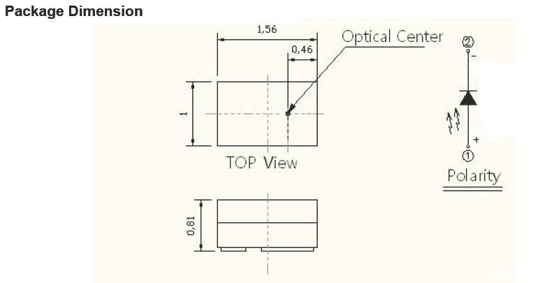 VR虚拟产品专用亿光850发射管:HIR-C16/L572-P01/TR